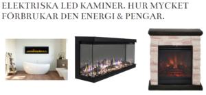 Elektriska LED kaminer. Hur mycket förbrukar den energi